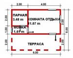 30 кв. м. каркасная баня
