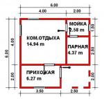 36 кв. м. баня из лстк