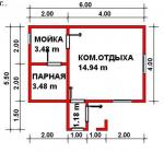 28.18 кв. м. каркасная баня
