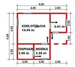 29.31 кв. м. каркасная баня