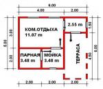 29.58 кв. м. каркасная баня