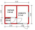 12 кв. м. каркасная баня