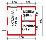 16 кв. м. Баня из ЛСТК