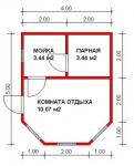 16.95 кв. м. Баня из ЛСТК
