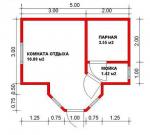 15.86 кв. м. Баня из ЛСТК