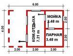 24 кв. м. каркасная баня