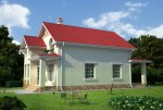 157 кв м Дом из ЛСТК
