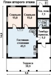 180 кв м Дом из ЛСТК