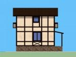 80 кв м Двухэтажный дом