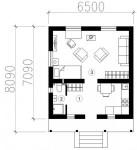 35 кв м Двухэтажный дом