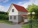 60 кв м Двухэтажный дом