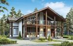 Каркасный дом из ЛСТК с террасой 168 кв. м.