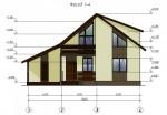 Каркасный дом из ЛСТК 205 кв. м.