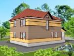 Каркасный дом из ЛСТК 264 кв. м.