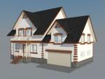 Каркасный дом из ЛСТК 282 кв. м.