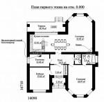 Красивый дом из ЛСТК 314 кв. м.