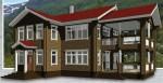 Каркасный дом из ЛСТК с террасой 315 кв. м.