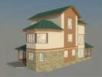 Каркасный дом из ЛСТК 320 кв. м.