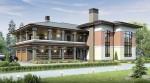 Каркасный дом из ЛСТК с террасой 339 кв. м.