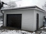 Каркасный гараж из ЛСТК (КГ-4)