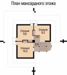 69.3 кв. м. Каркасный дом в виде пирамиды