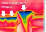 Замеры тепловизором деревянных домов